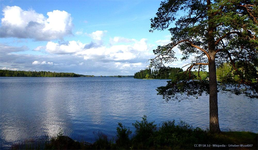 Romantischer Fegensee in Schweden