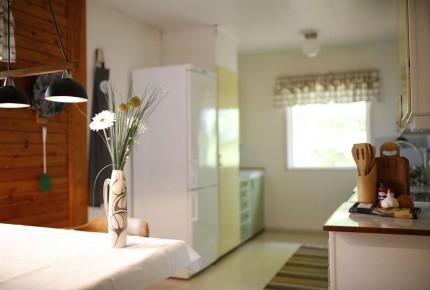 Küche im Ferienhaus Schweden