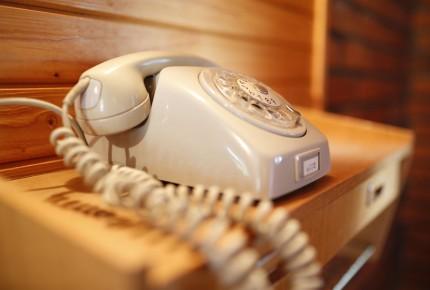 Das Ferienhaus hat W-Lan und Telefon
